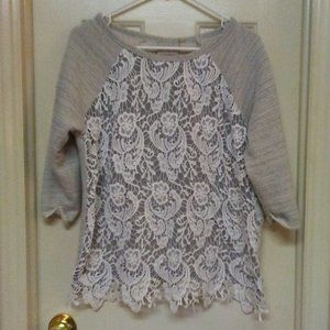 Dantelle Lace Covered Sweater